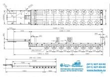 Габаритные размеры трала NOOTEBOOM MCO-PX-142-08V