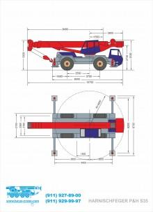 Габаритные размеры автомобильного крана HARNISCHFEGER P&H S35