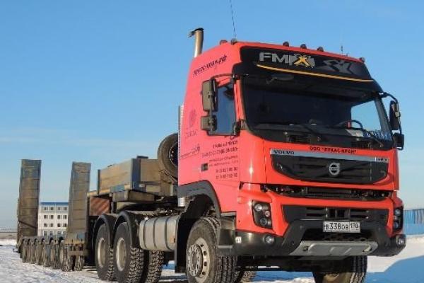 Трал - низкорамный раздвижной полуприцеп-тяжеловоз 80 тонн для негабаритных перевозок