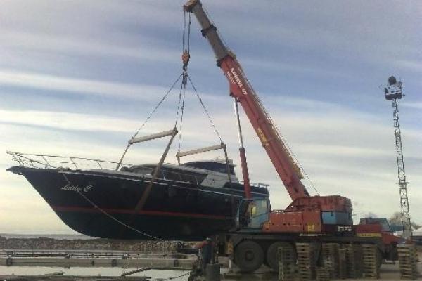 Спуск яхты на воду KRUPP - 80 GMT