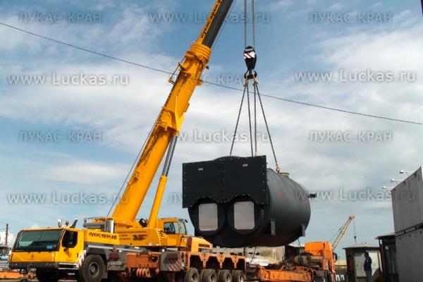 LIEBHERR LTM 1200 Перегрузка котла весом 80 тонн