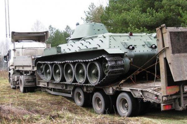 Т-34 на трале