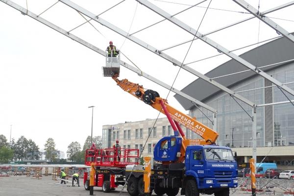 Подача монтажников атвовышкой  на высоту до 45 м